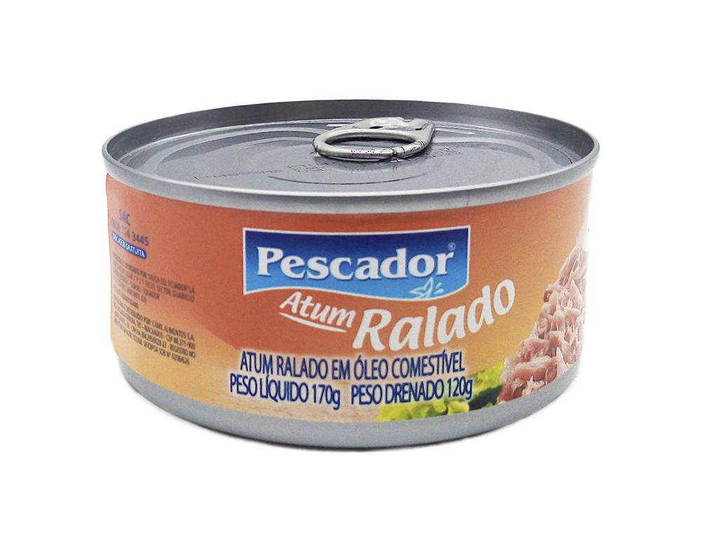 ATUM RALADO EM ÓLEO PESCADOR 170 G
