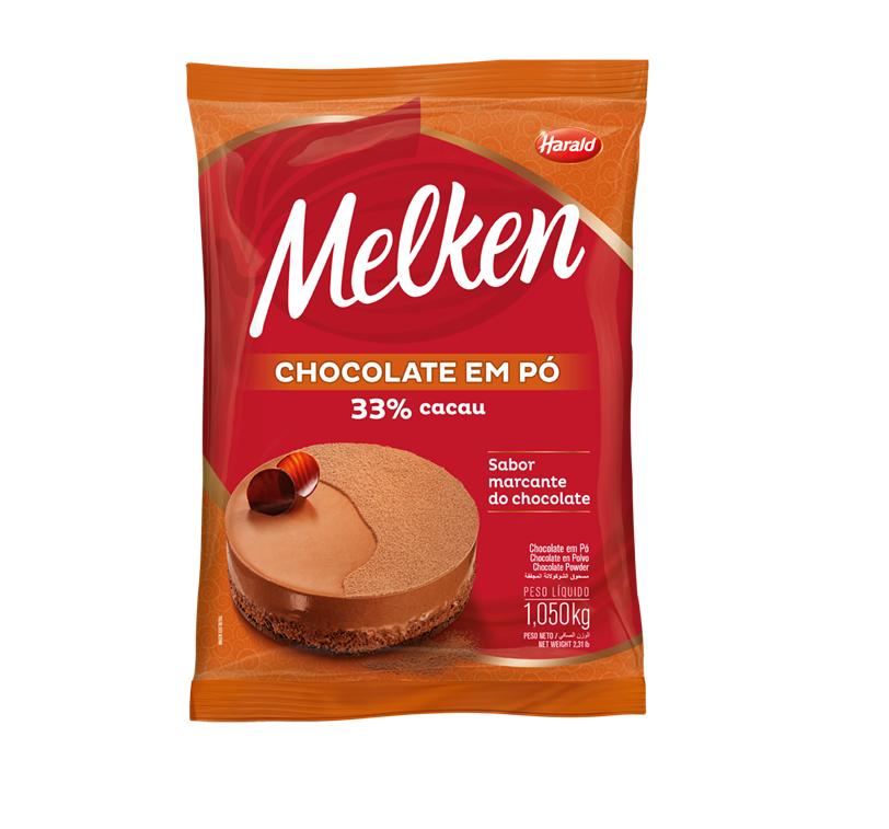 CHOCOLATE EM PÓ 33 % MELKEN HARALD 1,050 KG