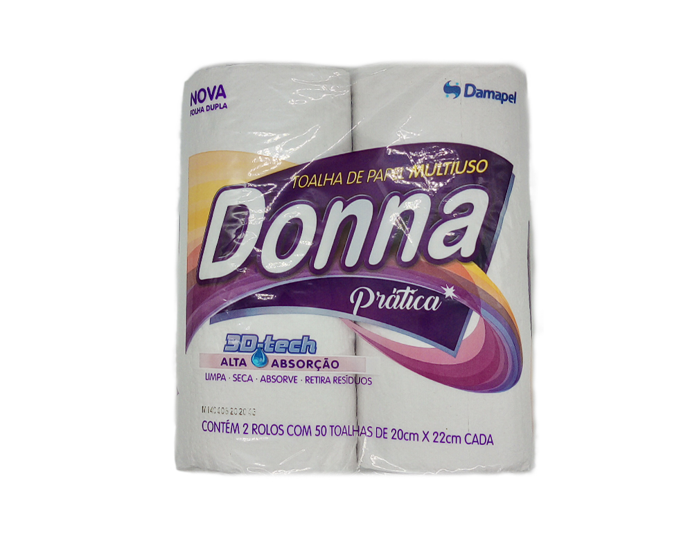 PAPEL TOALHA DONNA PCT 2 ROLOS