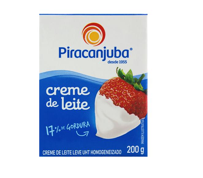 CREME DE LEITE PIRACANJUBA 200 G