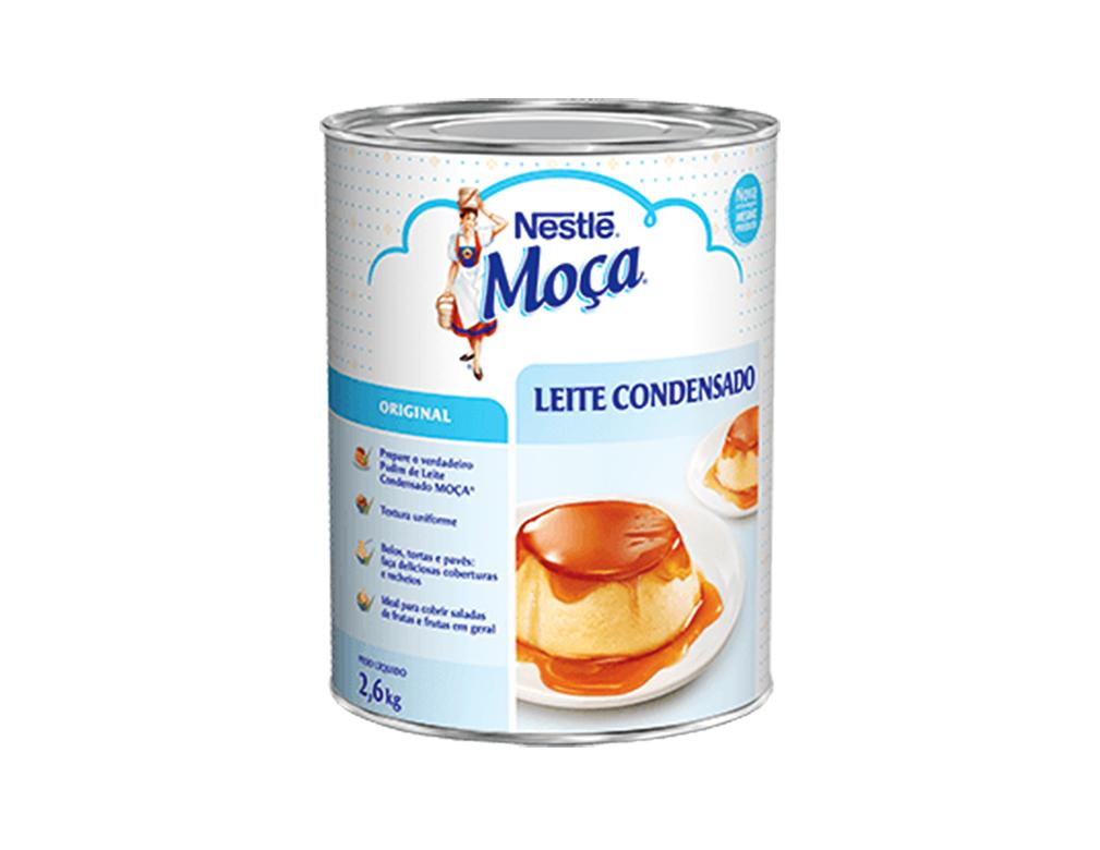 LEITE CONDENSADO GRANDE MOÇA NESTLÉ 2,6 KG