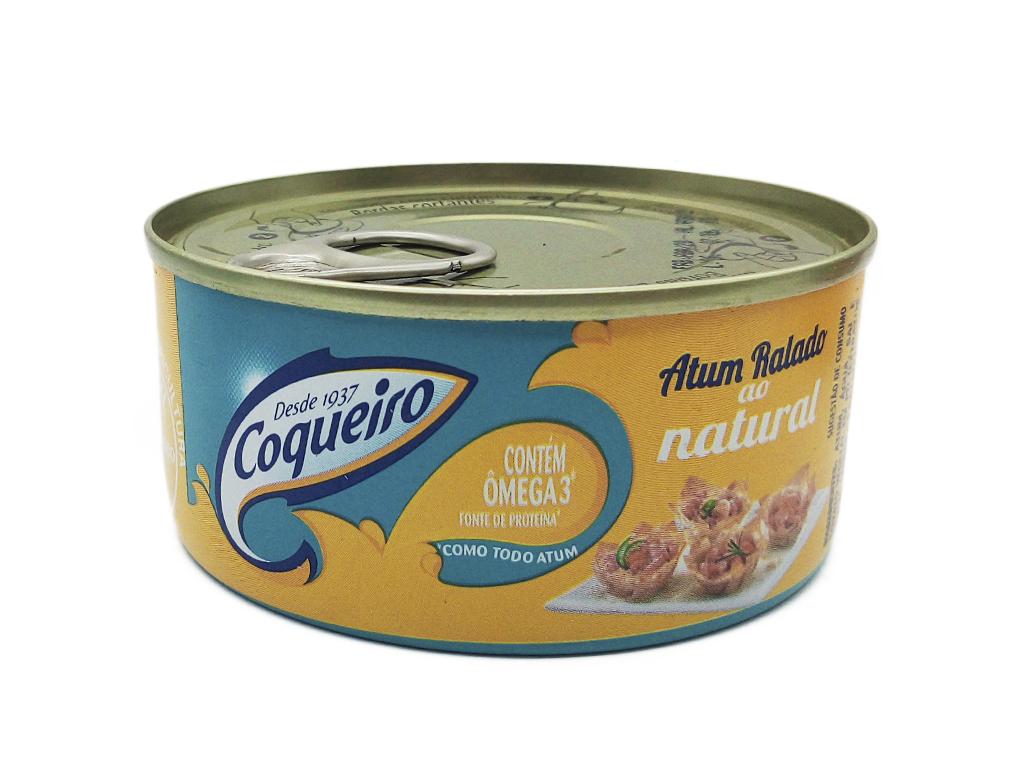 ATUM RALADO NATURAL COQUEIRO 170 G
