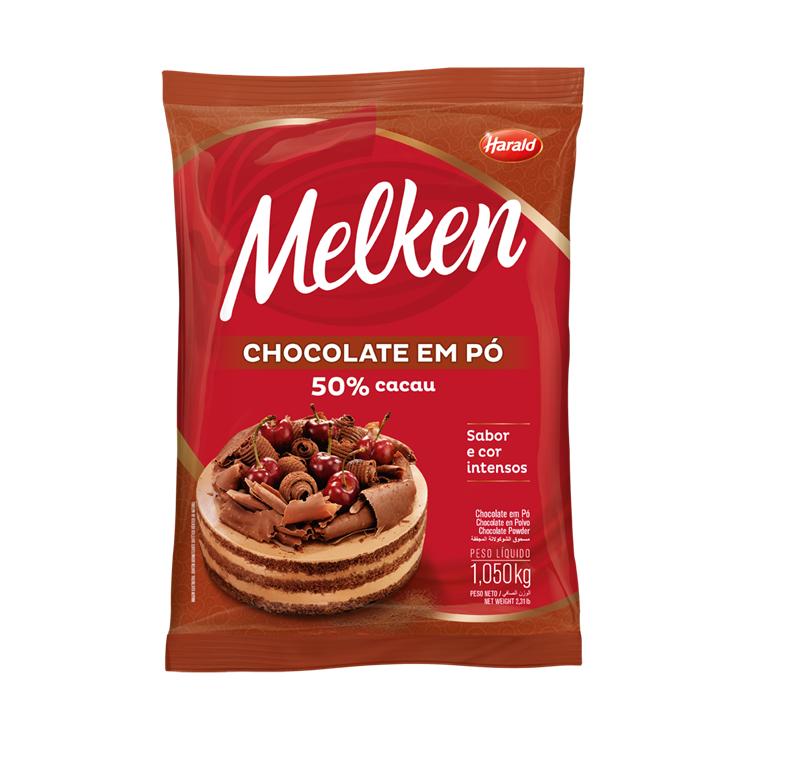 CHOCOLATE EM PÓ 50 % MELKEN HARALD 1,050 KG