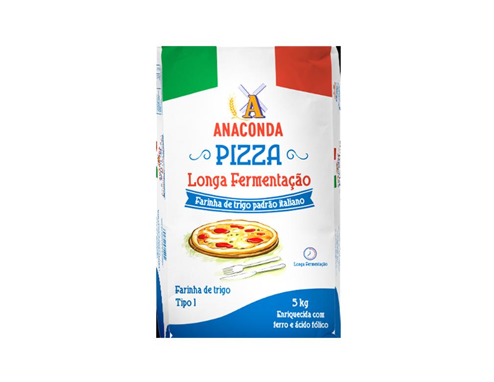 FARINHA DE TRIGO LONGA FERMENTAÇÃO PIZZA ANACONDA 5 KG